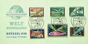 BELGIUM 1958 BRUSSELS WORLD PHILATELIC EXPO 6v ILLUSTRATED FDC