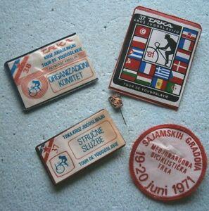 1971 TOUR DE YUGOSLAVIA BICYCLE RACE CYCLING lot BADGE PATCH PIN ORG. COMMITTEE