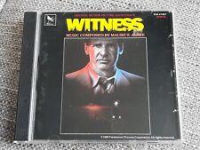 WITNESS CD SOUNDTRACK - MAURICE JARRE - RARE - HARRISON FORD