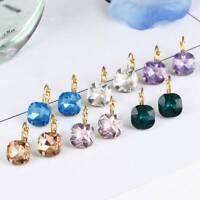 Geometric Austrian Crystal Zircon Earrings Women Ear Studs Fashion Jewelry Gift