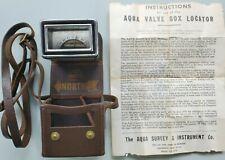 Aqua Valve Box Locator Vintage Mid 1950s Before Patent Granted With Leather Case