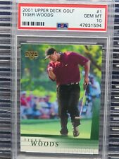 2001 Upper Deck Golf Tiger Woods Rookie Card RC #1 PSA 10 GEM MINT (94) Y348