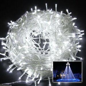 Strom Lichterkette LED Weihnachtsbeleuchtung Innen Außen Garten Weihnachtsdeko
