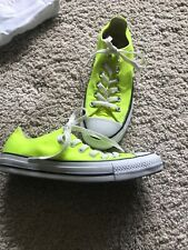 Ladies Size 4.5 Converse All Star Fluorescent Trainers Worn Twice