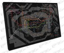 Line Map Art Prints