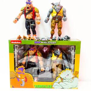 """2/Pcs 7"""" Action Figures NECA TMNT Teenage Mutant Ninja Turtles Bebop Rock steady"""