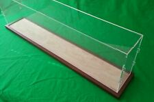 "42"" Clear Acrylic Table Top Display Case Box Stand Counter Top Show Case Wood"