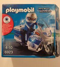 Playmobil Police Vélo avec Lumière DEL-ville 6923 New-voir description