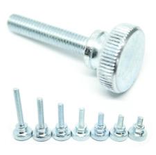 Knurled Steel Thumb Screw M3 M4 M5 M6 Flat Head Thumbscrew Bolt 6mm to 40mm Long