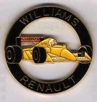 Pins Pin's lapel pin Williams Renault Canon Camel Rond noir F1 Jaune Signé