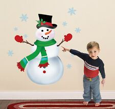"Indoor Snowman Christmas Decorations Wall Sticker Decal 21""H Kids Will Love This"