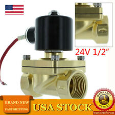 1/2 Inch NPT 24V AC Brass Electric Solenoid Valve AC Water Air Gas Viton N/C USA