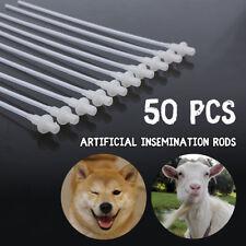 10'' 50Pcs Artificial Insemination Rods Breeding Catheter Tube Dog Sheep Goat
