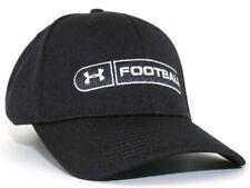 NEW Licensed Under Armour UA FOOTBALL Flexfit M/L Hat Black __B145