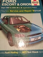 Haynes Workshop Manual 1737 Ford Escort & Orion Petrol Sept 1990 - 2000 H to X 1