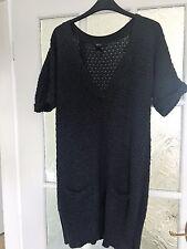 Women's long Grey short sleeve dress/top by MNG Suit Size L