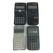 Lot of 4 Scientific Calculators Texas Instruments Ti-30X Iib Casio fx-300es Plus
