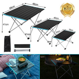 NEW Outdoor Portable Folding Aluminum Table Lightweight Camping Picnic w/Bag BBQ