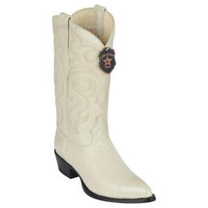 Men's Los Altos Genuine Elk Leather Western Cowboy Boots J Toe