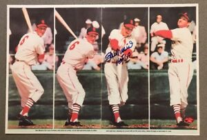 """Stan Musial autograph Cardinals signed """"4 Swings"""" auto HOF 69 Inscribed STM COA"""