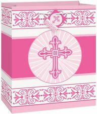 Radiant Pink Cross Religious Gift Bag. Unique Industries.