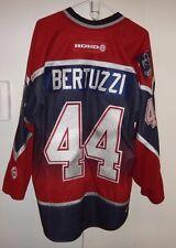 VINTAGE KOHO VANCOUVER CANUCKS TODD BERTUZZI #44 NHL HOCKEY JERSEY XL BLUE RED