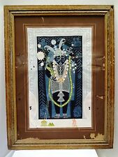 ANTIQUE MINIATURE PAINTING OF LORD KRISHNA/SHREENATHJI WATER COLOR COLLECTIBLE 2