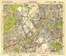 NE LONDON. Stratford Bow Hackney Wick West Ham Old Ford Plaistow.BACON 1955 map