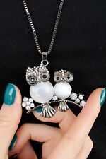 Black&White Owl Necklace High Quality Brand New