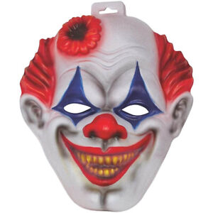 KILLERCLOWN MASKE Halloween Killer Clown Horror Grusel Mörder Kostüm Party Deko