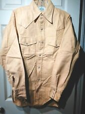 Vintage Woolrich Chamois Heavy Flannel Shirt Small Western Snap Usa Ex Cond!