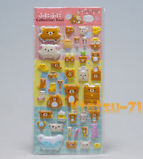"San-X Rilakkuma Fluffy Stickers ""Interior"" Funi Funi Seal Collection 3D 34503"