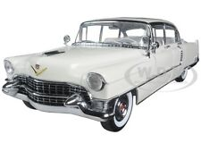 1955 CADILLAC FLEETWOOD SERIES 60 WHITE 1/18 DIECAST MODEL CAR GREENLIGHT 12936