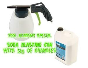Soda Blasting Cleaning Gun with 5kg Special Granules - Environmentally Friendly