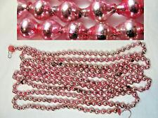 Over 7 Feet Vtg Pink Mercury Glass Bead Garland Christmas