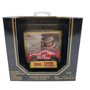 Racing Champions 1992 Premier Edition #11 Bill Elliott Card Car Display Stand