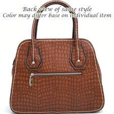 New Women Anais Gvani Chic Croco Faux Leather Satchel Tote Shoulder Bag Purse