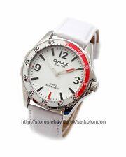 OMAX de caballero / unisex dial blanco Reloj,acabado en plata,Seiko (Japón) mvt