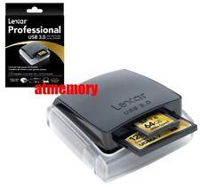 Lexar Professional USB 3.0 Dual-Slot Card Reader UDMA 7 CF SD SDHC SDXC