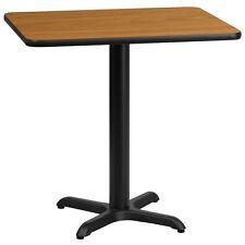 24'' X 30'' Rectangular Natural Laminate Table Top W/ 22'' X 22'' Table Ht Base