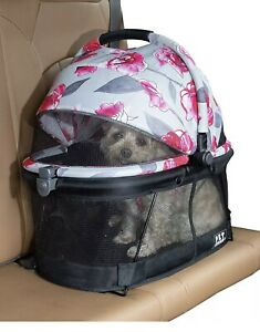 Pet Gear PG1040NZFL View 360 Pet Carrier & Car Seat for Small Dogs & Cats with