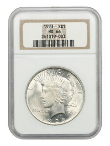1923 $1 NGC MS66 - Peace Silver Dollar