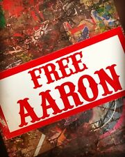 """Hells Angels - RSIDE-  """"FREE AARON"""" & """"FREE ALL ANGELS"""" Defense Fund Stickers"""
