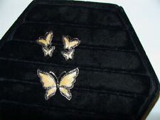 with matching earrings set Marcasite Enamel butterfly Pin Brooch