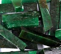 Natural Colombian Green Emerald Gemstone Slice Rough Lot Stock Clearance