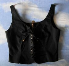 TOP  Vest woman vintage 90's MOSCHINO JEANS TG.44-M  made in Italy new!  Rare