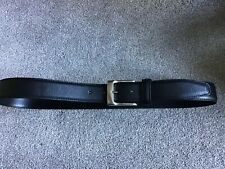 """Mens Black Belt 30-34"""" ,with Silver Colour Buckle, Width 1 1/4"""""""