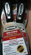 "Hyde Tools 3"" Stiff Black & Silver Chisel Scraper Heavy Duty Pack of 5 PN 02400"
