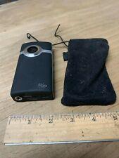 Flip Video Mino Video Camera Black Working! Good condition.