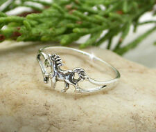 HORSE & WESTERN JEWELLERY JEWELRY TROTTING PONY RING STERLING SILVER SIZE 7/N